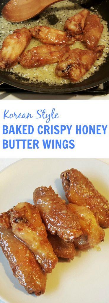 baked crispy honey butter wings