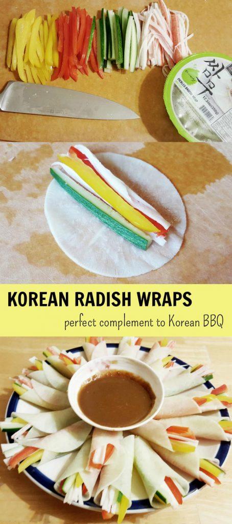 Korean Radish Wraps (Mussam mari)