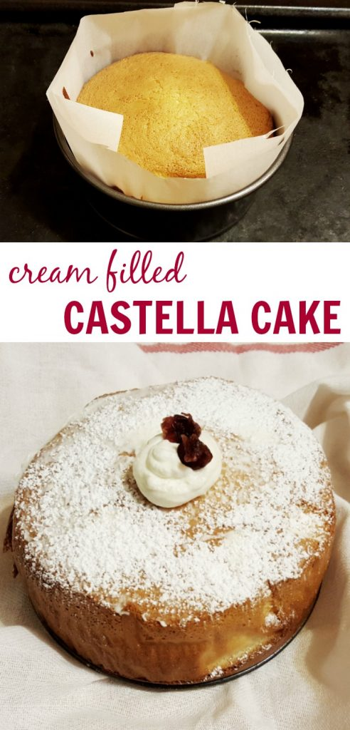 Light and Airy Cream Filled Castella Cake