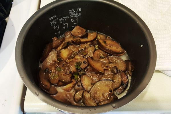 eggplant rice in rice cooker