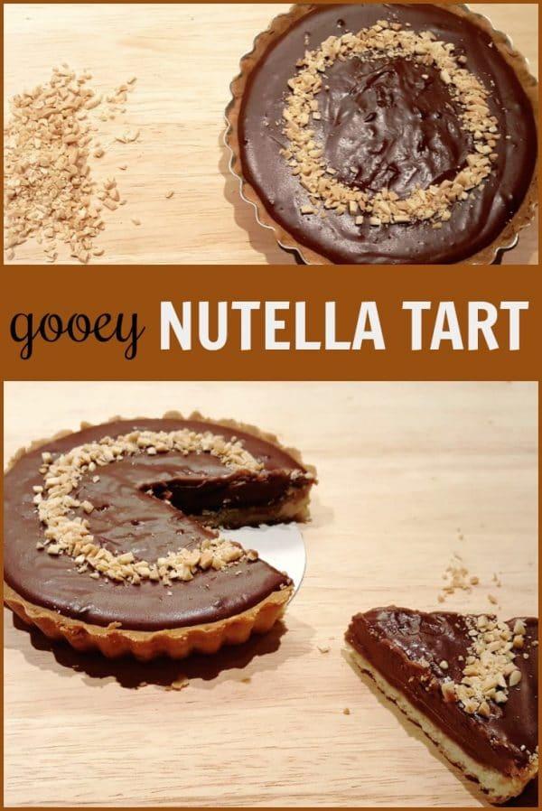 gooey nutella tart